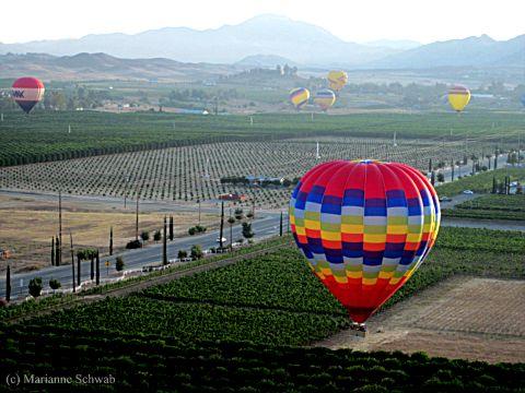 Travel Photo Hot Air Balloons Over Temecula