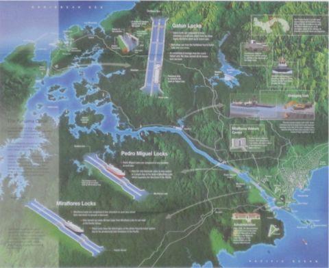 Panama+canal+map
