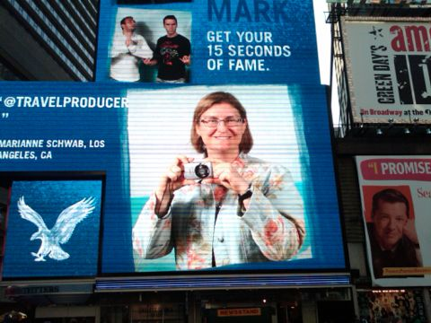 15 Seconds Fame Times Square Got my 15 Seconds of Fame